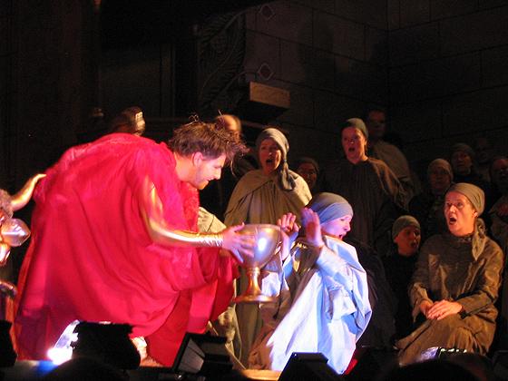 Belsazar in Händels »Belsazar«, 2006 in Hannover